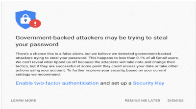 G Suite Can Now Alert You of Government-Backed Attacks