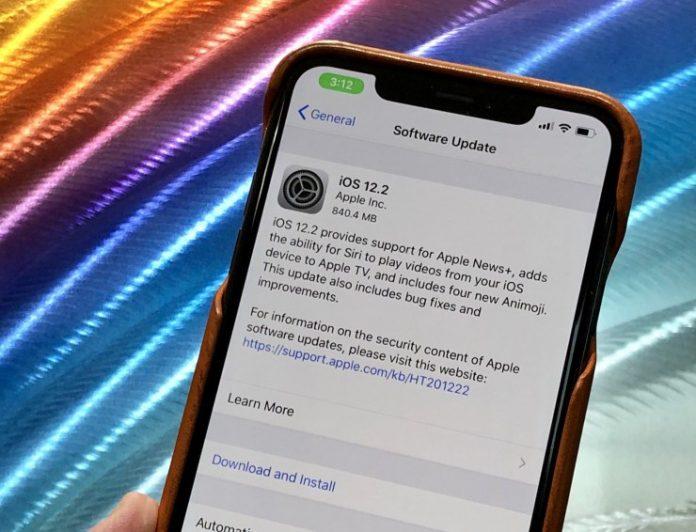 Apple iOS 12.2 released