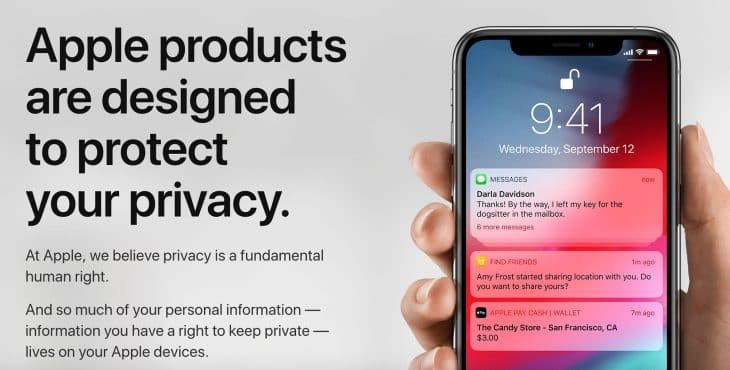 Apple products are designed to protect your privacy.